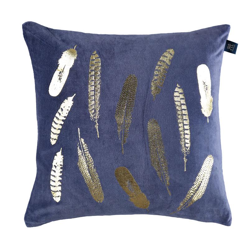 Köp Amanda Kuddfodral Sammet Blå Fraktfritt på Sovtex se