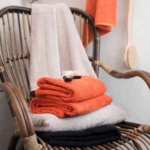 Borganäs Handduk Stripe Frotté Orange - Fraktfritt på Sovtex.se 29c093075d0b6