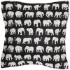 Elefant Kuddfodral Vävd Svart