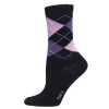 Ladies Sock Argyle Svart/ljusrosa