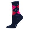 Ladies Sock Argyle Marin/röd