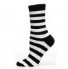Ladies Sock Block Stripe Svart