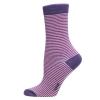 Ladies Sock Slim Stripe Lila