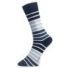 Men's Sock Big Strip Svart