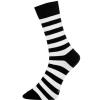 Men's Sock Block Stripe Svart