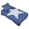 Stripe Star Påslakan Blå