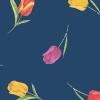 Tulip Vaxduk Blå
