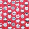 Tyg Cupcakes Röd