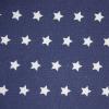 Tyg Stjärnor Mörkblå/Vit