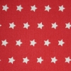 Tyg Stjärnor Röd/Vit Stuvbit 2,2m