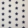 Tyg Stjärnor Vit/Mörkblå Stuvbit 2,1m