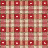 Vaxduk Rutig Hjärta Röd