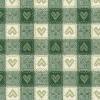 Vaxduk Rutig Hjärta Grön