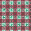 Vaxduk Rutig Hjärta Röd/Grön
