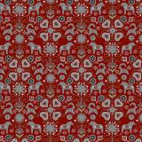 Allmoge Textilvaxduk Röd