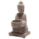 Bali Buddha Värmeljusstake Cement Grå