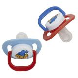 Bamse Napp Ortodontisk Röd/Blå 2-Pack