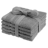 Basic Tvättlappar Grå 5-pack
