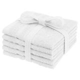 Basic Tvättlappar Vit 5-pack