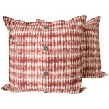 Batikprick Kuddfodral Röd