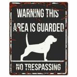 Beagle Skylt Svart Stor