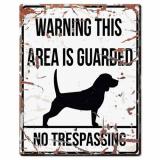 Beagle Skylt Vit Stor