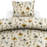 Bee Blommigt Påslakanset Linne