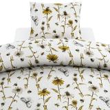 Bee Blommigt Påslakanset Vit