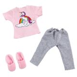 Bfriends Dockkläder Pyjamas Rosa