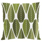 Blader Kuddfodral Grön