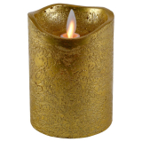 Blockljus LED Guld