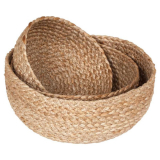 Braided Brödkorg Jute Natur 3 Set