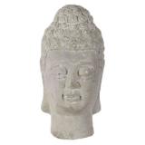 Buddha Huvud Prydnad Ljusgrå