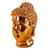 Interstil Interiör Buddha Huvud Prydnad Koppar