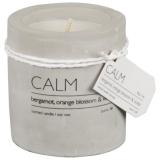Calm Doftljus Betong Bergamot, Orange Blossom & Violet
