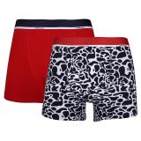 Camo Boxerkalsong Bambu Marin/Röd 2-Pack