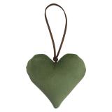 Chakra Prydnadshjärta Sammet Grön