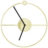 Cirkel Väggklocka Guld