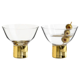 Club Cocktailglas Guld 2-Pack