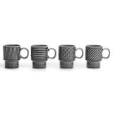 Coffee & More Espressomugg Grå 4-Pack