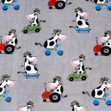 Cow Pläd Grå