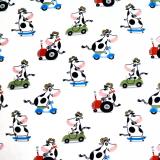 Cow Pläd Vit