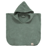Cozy Poncho Våfflad Grön