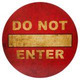 Do Not Enter Skylt Röd