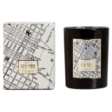 Doftljus Victorian Maps New York Svart