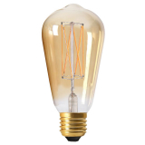 Elect Edison LED-Lampa Dimmer Guld