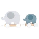 Elefant Dragdjur Trä Grå