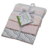 Rätt Start Elefant Flanellfilt ECO Rosa 3-Pack