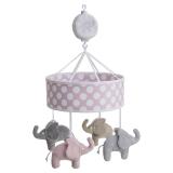 Elefant Mobil Speldosa Rosa