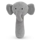 Elefant Skallra Grå